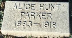 Alice <i>Parker</i> Hunt
