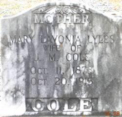 Mary Lavonia <i>Lyles</i> Cole