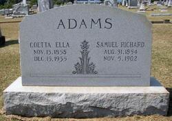 Coetta Ella <i>Hunter</i> Adams