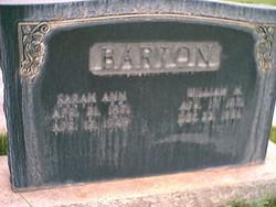 Sarah Ann <i>Hanks</i> Barton