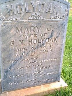 Mary <i>Jones</i> Holyoak