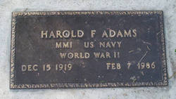 Harold F Adams