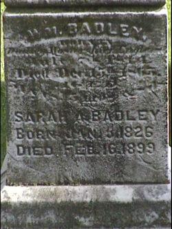 Sarah Ann <i>Rodgers</i> Badley