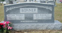 Mary Elizabeth Ida <i>Carter</i> Bonner