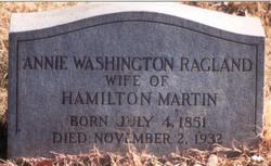 Annie Washington <i>Ragland</i> Martin