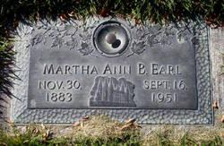 Martha Ann <i>Barlow</i> Earl