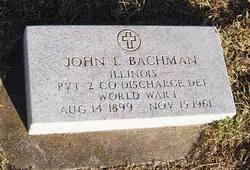 Pvt John L Bachman