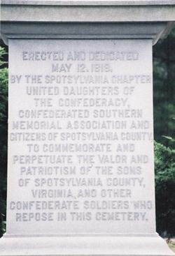 Spotsylvania Confederate Cemetery