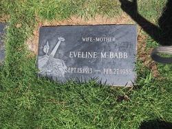 Eveline M <i>Smith</i> Babb, Unruh