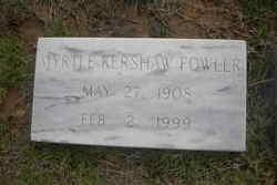 Myrtle Pauline <i>Kershaw</i> Fowler