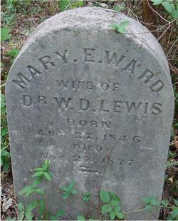 Mary E. <i>Ward</i> Lewis