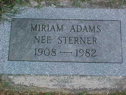 Miriam <i>Sterner</i> Adams