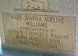 Mary Joanna Adeline Williams