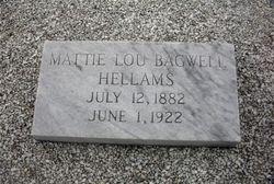 Mattie Lou <i>Bagwell</i> Hellams