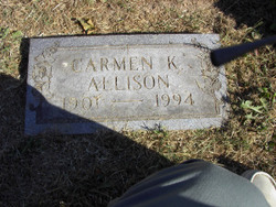 Carmen A <i>Kingsbury</i> Allison