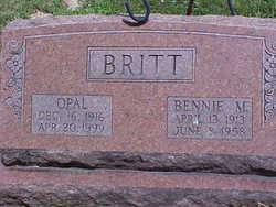 Annie Opal <i>Cox</i> Britt