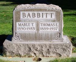 Thomas Earl Tom Babbitt