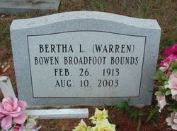 Bertha L. <i>Warren</i> Bounds