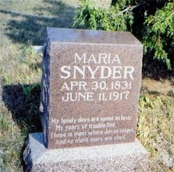 Maria Oaks <i>Brumbaugh</i> Snyder