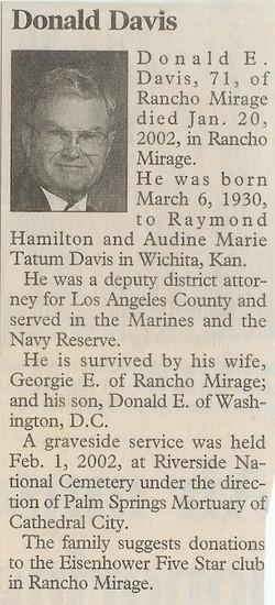 Donald Eugene Davis, Sr