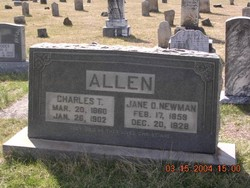 Jane O <i>Newman</i> Allen