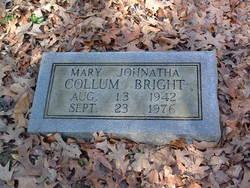 Mary Johnatha <i>Collum</i> Bright