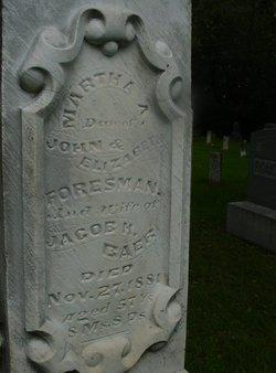 Martha A <i>Foresman</i> Baer