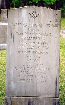 Dr Edward Carrington Stanard Taliaferro