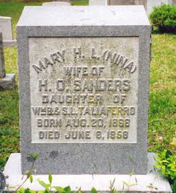 Mary H. L. (Nina) <i>Taliaferro</i> Sanders