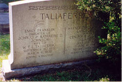 Emily Franklin <i>Johnson</i> Taliaferro