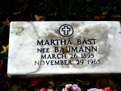 Martha <i>Baumann</i> Bast
