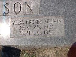 Vera Crosby <i>Melvin</i> Atkinson
