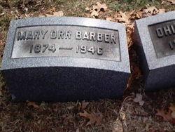 Mary <i>Orr</i> Barber