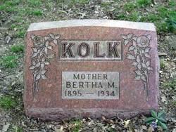 Bertha Marie <i>Hahnenkamp</i> Kolk