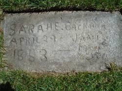Sarah Elizabeth <i>Duncan</i> Backman