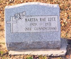 Martha Rae <i>Gunningham</i> Luce