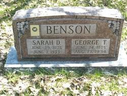 Sarah <i>Dunkley</i> Benson