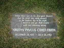 Dorothy Phyllis <i>Cohen</i> Frank