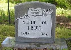 Nettie Lou <i>Stone</i> Freed