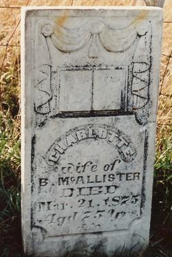 Charlotte <i>Hobbs</i> McAllister