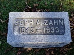 Sophia Catharine Dorothea Henriette <i>Brand</i> Zahn