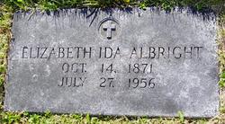 Elizabeth Ida Lizzie <i>Gingrich</i> Albright