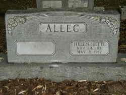 Helen Bette <i>Woods</i> Allec