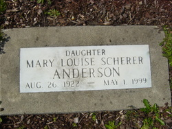 Mary Louise <i>Scherer</i> Anderson