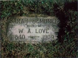 Sarah Ann <i>Hembree</i> Love