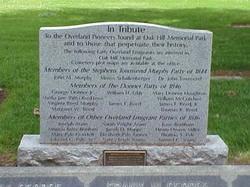 Overland Pioneers Memorial