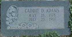 Caddie D. <i>Robertson</i> Adams