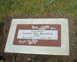 Carolyn May Dolly <i>Geschwend</i> Benedick