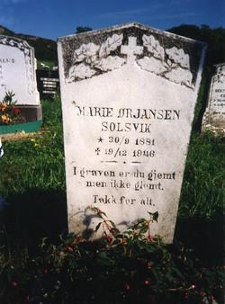 Marie <i>Nilsen-Toft</i> Orjansen