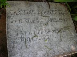 Mrs Caroline Duncan Carrie <i>Burnett</i> Ellis